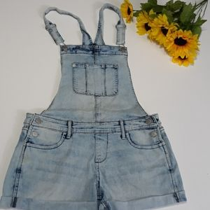 Light Blue Jean overall shorts